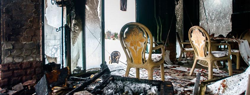 fire damage inside home