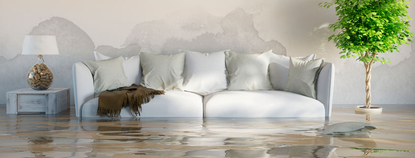couch with water damage